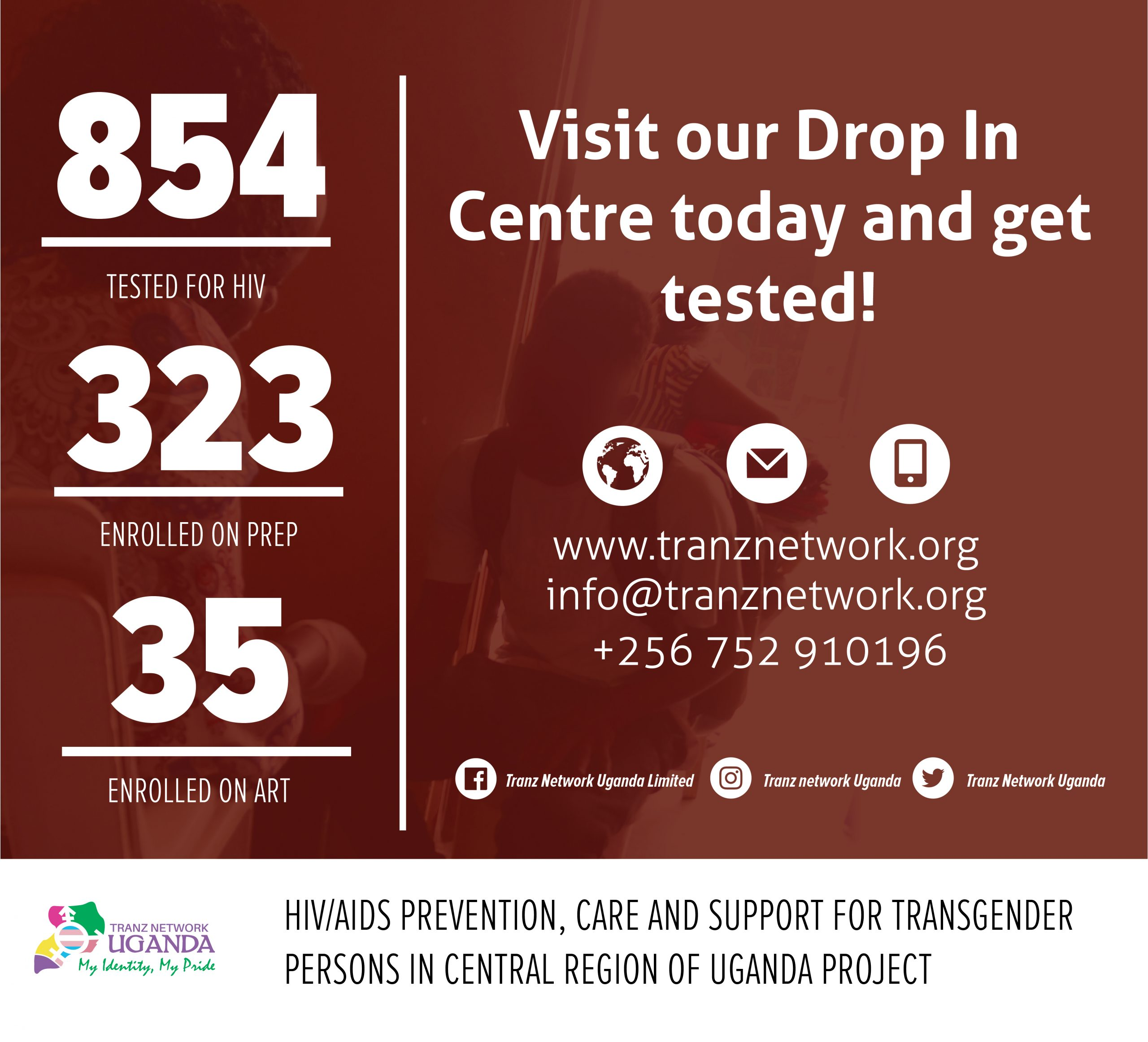 """""""HIV/AIDS PREVENTION, CARE AND SUPPORT FOR TRANSGENDER PERSONS IN THE CENTRAL REGION OF UGANDA"""